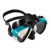 スキューバダイビングスイミングスピアフィッシングのためのプロフェッショナルダイビングのシリコーンマウスピースドライシュノーケル二窓強化ガラスマスクセット