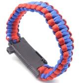 傘ブレスレットアウトドア多機能ハンドロープキャンプサバイバル緊急ブレスレット