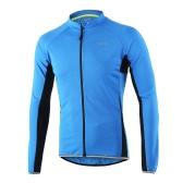 Arsuxeoアウトドアスポーツサイクリングジャージバイク自転車フルジップロングスリーブシャツMTB自転車乗馬ジャージー