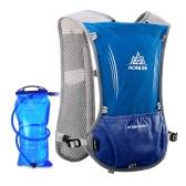 AONIJIEリフレクティブベストスポーツ水ボトルバックパックのバッグサイクリングの服を実行するための1.5Lの水分膀胱と安全ギア