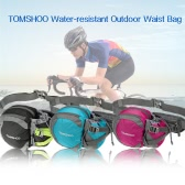 TOMSHOO Water-resistant Outdoor Waist Bag Sports Waist Pack with Water Bottle (Not Included) Holder for Hiking Running Cycling Camping Climbing Travel