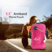 "5.5"" Durable Multifunction Wrist Pouch Outdoor Sports Running Mobile Cell Phone Arm Bag Wallet Armband Pouch"