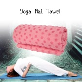 Nonslip Flower Yoga Mat Towel Mat Cover Blanket with Free Mesh Carry Bag for Hot Yoga Fitness Exercise
