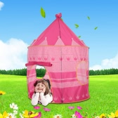 Docooler Prince Princess Castle Kids Play Tent Indoor Outdoor Children Foldable Playhouse with Carry Bag