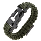 Paracord Bracelet Travel Outdoor Emergency Quick Release Survival Bracelet with Flint Stone Whistle Buckle Bottle Opener