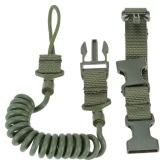 Military Tactical Safety Two Points Outdoor Belt Pistol Hand Gun Sling Paintball Strap