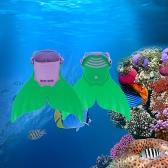 Kid Children Mermaid Swim Fin Diving Monofin Swimming Foot Flipper