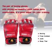 Half Finger Boxing Gloves Kung Fu Fighting Muay Thai Martial Arts Gloves