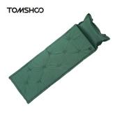 枕とTOMSHOOアウトドアキャンプ太い自動インフレータブルマットレス自己膨張テントマットピクニックマット