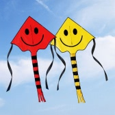 60 * 80cm Smiley Kite Smiling Face Kite for Kids with Handle Line Outdoor Sports