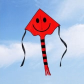 ハンドルラインアウトドアスポーツで子供のためのフェイスカイト笑顔60 * 80センチメートルスマイリーカイト