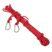 Docooler 6mm * 10m Outdoor Safety Rope Professional High Strength Rock Climbing Rope Rescue Caving Rappelling Mountaineering Survival Accessory Cord Sling with Carabiner