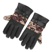 PU Gloves Mittens Winter Warm Outdoor Bike Riding Cycling Thick Warmer Man Bike Bicycle Gloves