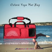 Yoga Mat Bag with Open Ends Mobile Pocket and Water Bottle Holder