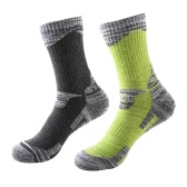 2 Pairs of Breathable Wicking Wear Resistant Biking Mountain Climbing Skating Socks Compression Cotton Footbed Socks Cotton Socks