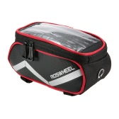ROSWHEEL 6.2 Inch Touch Screen Bike Bag Front Frame Pannier Cycling Top Tube Bag Mobile Phone Holder Bag MTB Mountain Road Bicycle Repair Tool Bag Pouch