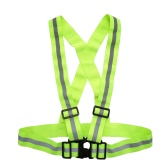Outdoor Sports Reflective Vest Lightweight Adjustable Elastic High Visibility Safety Vest Strap Gear for Running Cycling Jogging