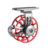 Mini Ultralight Fly Reel Right Handed Fly Fishing Reel CNC Machined Aluminum Full Metal Reel Former Ice Fishing Wheel Reel Spool Tackle Tool