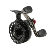 4+1 Ball Bearing 2.6:1 Gear Ratio Right/Left Hand Raft Fishing Reel Fly Reel Wheel Ice Fishing Reel Star Drag Fishing Tackles with Storage Pouch