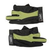 アウトドアスポーツサイクリングキャンプを実行している1対3本の指なし手袋滑り止め通気性軽量釣り手袋
