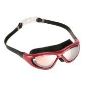Unisex Adults Professional Glare-reducing Mirrored Coating Anti-Fog UV Protection Swimming Goggles Sports Eyewear Glasses Swimwear with Storage Case