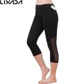 Lixada 女性タイトなヨガ ヨガを実行している伸縮性のあるクイック乾燥カプリパンツ スポーツ レギンスをパンツします。