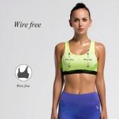 女性スポーツブラフルカバレッジレーサーバックの取り外し可能なパッド入りワイヤー無料Quickdryランニングヨガ下着