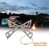 Lixada Outdoor Portable Mini Stove Rack Titanium/Stainless Steel Cross Stand Stove Bracket Pot Rack Steaming Rack for Reactor Stove