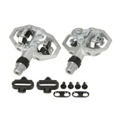 ​Wellgo Sports Casual Touring Mountain Biking Clipless Pedals MTB SPD Clip-in Bicycle Pedals with Cleats Clips