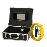"Lixada 20M Drain Pipe Sewer Inspection Camera IP68 Waterproof Industrial Endoscope Borescope 6.5mm Super Slim Inspection Camera 7"" LCD Monitor 6 LEDs Night Vision"