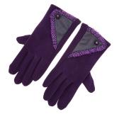 厚く暖かい冬の手袋を裏地の女性のスタイリッシュなレースのタッチスクリーン手袋