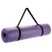 Yoga Mat Nonslip Extra Thick NBR Exercise Yoga Mat Pad Cushion with Carrying Strap for Pilates Fitness Workout