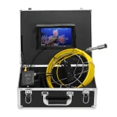 """Lixada 20M Drain Pipe Sewer Inspection Video Camera 7"""" LCD Monitor DVR Recorder 12 LEDs Night Vision Waterproof Industrial Endoscope Borescope Inspection System Snake Camera 8GB SDcard Included"""