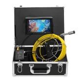 Lixada 20M排水管下水道検査カメラIP68防水工業用内視鏡ボアスコープ検査システムスネークカメラ7インチLCDモニタ12 LEDナイトビジョン