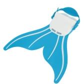 子供子供人魚泳ぐフィン ダイビングのモノフィン スイミング足フリッパー