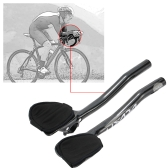 Lixada Carbon Fiber Road Bike Bicycle Aero Bar Rest Handlebar Aerobar 31.8mm