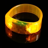 Sound Controlled LED Light Up Bracelet Voice Flash Activated Unisex Plastic Sports Wrist Band