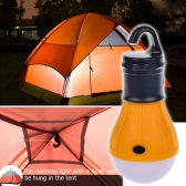 1pc Outdoor Hanging 3 LED Lights Camping Tent Bulb Portable Fishing Lantern Lamp