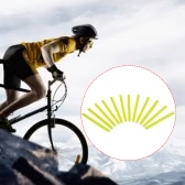 12PCS Bicycle Bike Wheel Spokes Reflective Sticks Tube Safe Cycling Spoke Reflector Safety Clip Wheel Reflective Tube Bicycle Decoration Light 75mm
