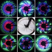36 RGB LEDs 32 Modes Spoke Light Water Resistant Anti-shock Bike Bicycle Wheel Light Color Changing
