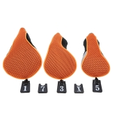 3Pcs Soft 1 3 5 Wood Golf Club Driver Headcovers Head Covers Set