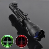 4-16x50 Red Green Illuminated Reticle Riflescope with 22MM Rail Mounts for Hunting