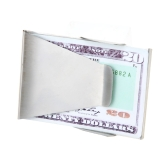 Double-Sided Slim Stainless Steel Money Clip Cash Clip Credit Card ID Card Holder