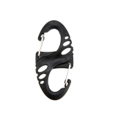 20Pcs Hollow-out S-shaped Figure 8 Plastic Carabiner Mountaineering Buckle Hook Clip Outdoor Camping Hiking Snap