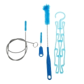 Hydration Water Bladder Bag Cleaning Kit Tube Hose Sucker Brushes Drying Rack 4 in 1 Multifunction