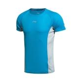 李寧ランニング シリーズ クイック乾燥した通気性夏スポーツ ウエア男性 t シャツ半袖 AHSK181