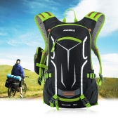 Lixada 18L Water-resistant Breathable Cycling Bicycle Bike Shoulder Backpack Ultralight Outdoor Sports Riding Travel Mountaineering Hydration Water Bag with Rain Cover