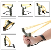 Adult Outdoor Powerful Folding Wrist Camouflage Slingshot Catapult for Marble Games Hunting