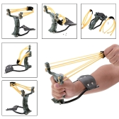 Adult Outdoor Powerful Slingshot Catapult for Marble Games Hunting with Wrist Brace