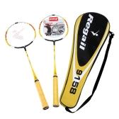 2Pcs Training Badminton Racket Racquet with Carry Bag Sport Equipment Durable Lightweight